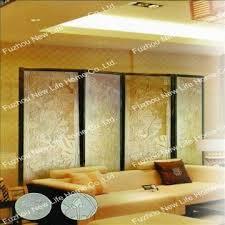 china decorative glass panel partition wall sand blast glass sliding door screen