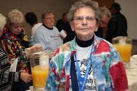 Peggy Austin, 81, who visits the center four times a week for fitness  activities, attended the