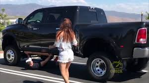 Girls VS Lifted Trucks | Girls Get in Big Lifted Trucks | How To Get ...