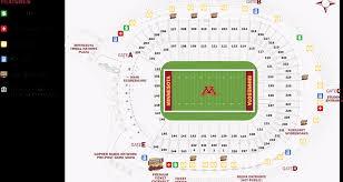 U2 Us Bank Stadium Seating Chart Tcf Bank Stadium Seating Chart