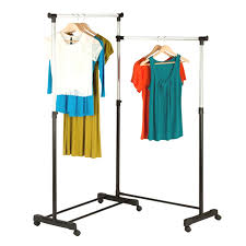 Double Coat Rack Double Clothes Rack Coat Rack Drying Rack Portable 96