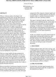Ird Mechanalysis Vibration Chart Signal Processing For Effective Vibration Analysis Pdf