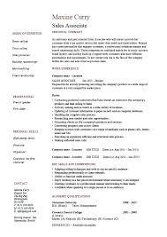 Sample Resume For Sales Associate At Retail Sales Associate Resume
