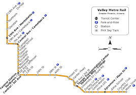Phoenix Light Rail Stops Map List Of Valley Metro Rail Stations Wikipedia