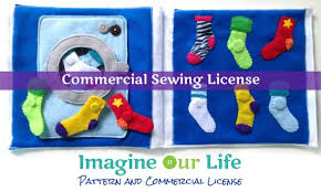 sock matching quiet book page mercial license