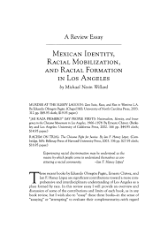 a review essay mexican identity racial mobilization and racial pdf extract preview