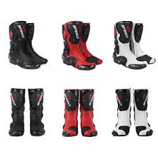 Details About Motorcycle Boots Street Bike Racing Black Red White Size Us 7 8 9 9 5 10 5 11