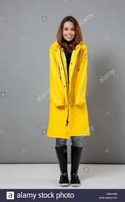 Teen girl raincoat slicer