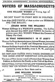 women s suffrage a costly and dangerous experiment  women s suffrage was as you can see a nefarious plot supported by diabolical feminists socialists organized labor and worst of all the mormons
