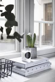 Cement Books Candle Plants Window Modern Simple Decor