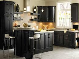painted kitchen cabinets ideas. Image Of: Distressed Black Kitchen Cabinets Painted Ideas
