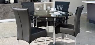 harvey s round glass dining room table with four chairs