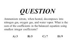 12 ammonium nitrate