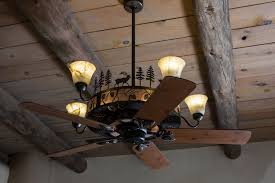 rustic chandelier ceiling fan