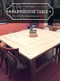 plans how to build a square farmhouse table plans diy expandable round dining