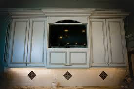 Tv In Kitchen Coastal Elegant Kitchen Point Pleasant New Jersey By Design Line