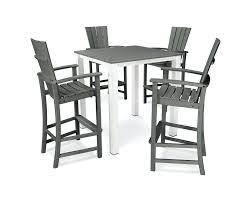 sidney 5 piece bar set by mission hills nautical pub table with bench genuine garden oasis