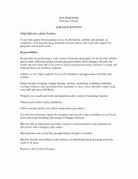 Examples Resume Inspirational Cv For Housekeeper Examples Cv For
