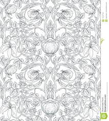 Bloemen Uitstekend Naadloos Patroon Voor Retro Behang Enchanted