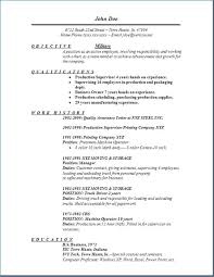 Resume With Military Experience Sample Resume Example