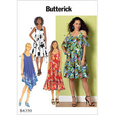 Sewing Patterns For Dresses Extraordinary Misses Sleeveless And Cold Shoulder Dresses Butterick Sewing Pattern