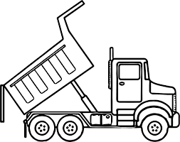 Small Picture Scripted Dump Truck Coloring Page Wecoloringpage