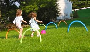 outdoor activities for kids. Kick Ball Croquet \u2014 Repurpose Some Old Pool Noodles To Make Your Own Kickball Obstacle Course For Plenty Of Active Outdoor Fun! Activities Kids