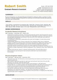 Graduate Research Assistant Resume Samples Qwikresume
