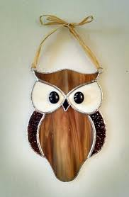 owl stained glass suncatcher designs
