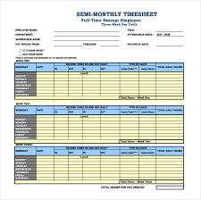 free timesheets templates excel free semi monthly timesheet template excel