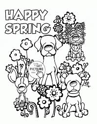 Coloring Pages Free Printable Spring Adult Coloring Pagesfree