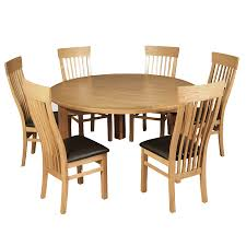 Stanhope 5ft Oak Round Dining Table 6 X Chairs Up To 50 Off