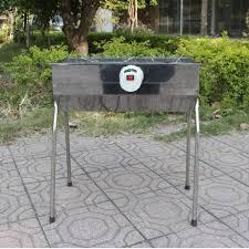 Bếp nướng than hoa V5M, quay tự động, dùng sạc dự phòng, lò quay vịt: Đa