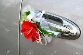Wedding Car Decorate Wedding Car Decoration Red Rose Stock Photo Picture And Royalty