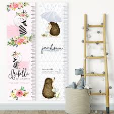 custom personalised kids childrens height chart growth chart