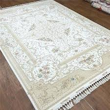 camel carpet white hand knotted wool and silk oriental rug knots rugs