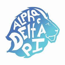 alpha delta pi mascot greek letter sticker 5