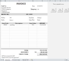 Excel Invoice Database Under Fontanacountryinn Com