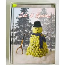 Christmas Cards Let It Snow - T659 - Racket Sports Tennis Gifts Specialties
