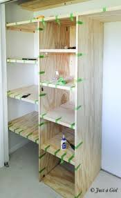 Closet shelving plans how build pantry shelves diy size 634 922