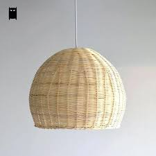 rattan ceiling light hand woven wicker rattan round basket shade pendant light fixture intended for ideas