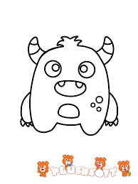 Now Coloring Pages Toddlers Free Printable Page A Cute Monster For