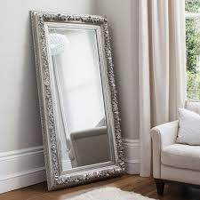 silver ornate edmond full length mirror