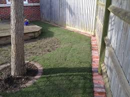 garden pavers for bed edging tips. How To Do Brick Edging   Newly Created Lawn Edge Along The Fence Made With Block Paving Bricks Garden Pavers For Bed Tips N