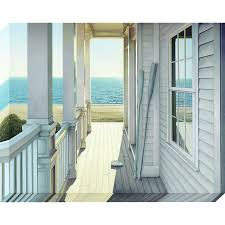 coastal print on canvas on transitional canvas wall art with shop coastal print on canvas at lowes