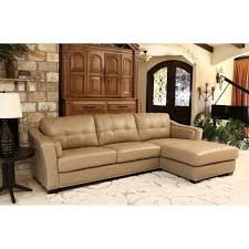 abson living margot leather sectional in beige sk 2313 crm within abbyson living leather sofa