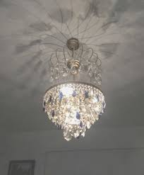a brass and blue crystal chandelier 1970s catawiki pertaining to blue crystal chandelier