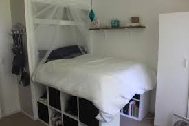 raised bed inside built in wardrobe