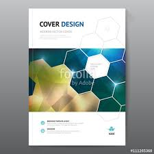 blue annual report leaflet brochure flyer template a4 size design book cover layout design