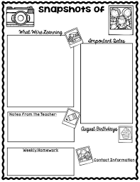 Monthly Newsletter Template For Teachers The Teaching Oasis Monthly Calendars And Newsletter Templates